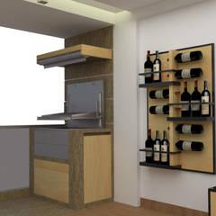Diseño sala - comedor : Terrazas de estilo  por DIS.OLIVER QUIJANO