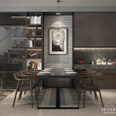 DINING AREA:  Dining room by Zeitlus Design