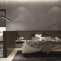 MASTER BEDROOM:  Bedroom by Zeitlus Design