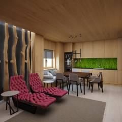 Баня: Столовые комнаты в . Автор – ARCHDUET&DA