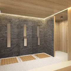 Баня: Ванные комнаты в . Автор – ARCHDUET&DA
