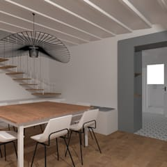 Maison de village: Salle à manger de style  par SAS Alexandre TRIPIER