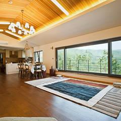 Living room by 건축사사무소 아키포럼