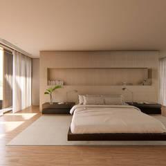 Suite Master Casa Ginkgo: Quartos  por Studio Calla