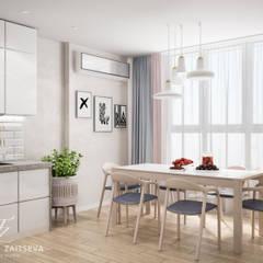 Lekkie skandynawskie wnętrze teraz w modzie!: styl , w kategorii Kuchnia na wymiar zaprojektowany przez Design studio TZinterior group