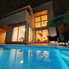Piscines privées de style  par PROSPERDESIGN ARCHITECT OFFICE/プロスパーデザイン