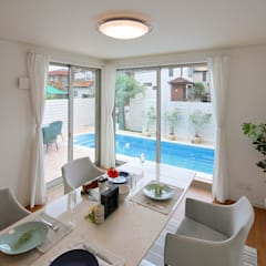 Piscinas de jardim  por PROSPERDESIGN ARCHITECT OFFICE/プロスパーデザイン