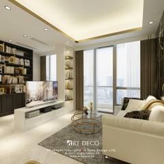 One Homantin :  Living room by Art Deco Design Ltd.