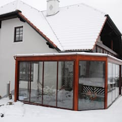Anexos de estilo  por Schmidinger Wintergärten, Fenster & Verglasungen
