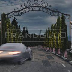 Концепция въезда на территорию Резиденции Крымский Бриз: Гостиницы в . Автор – Frandgulo