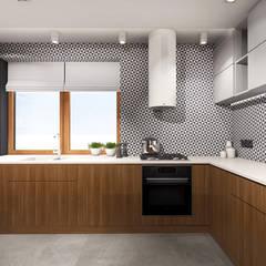 Kuchnia, dom jednorodzinny w Częstochowie: styl , w kategorii Kuchnia na wymiar zaprojektowany przez IN studio projektowania wnętrz