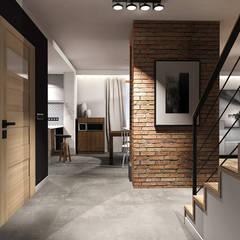 Projekt wnętrza domu jednorodzinnego, Częstochowa: styl , w kategorii Korytarz, przedpokój zaprojektowany przez IN studio projektowania wnętrz