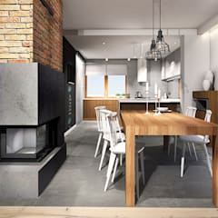 Projekt wnętrza domu jednorodzinnego, Częstochowa: styl , w kategorii Jadalnia zaprojektowany przez IN studio projektowania wnętrz