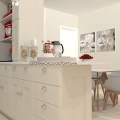 Residência Horizonte - Projeto de Interiores: Armários e bancadas de cozinha  por Brancaccio & Fortuna - Arquitetura e Engenharia