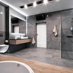 łazienka z jacuzzi: styl , w kategorii Łazienka zaprojektowany przez Ajot pracownia projektowa