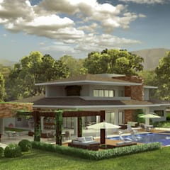 Country house by RICARDO ROBERTO ARQUITETURA