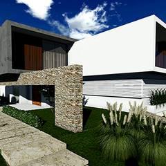 Casa Lago Sul: Casas familiares  por RICARDO ROBERTO ARQUITETURA