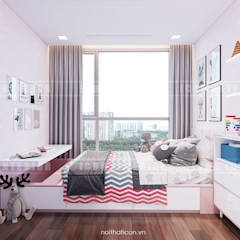 Phong cách hiện đại trong thiết kế nội thất căn hộ Vinhomes Central Park:  Phòng trẻ em by ICON INTERIOR,
