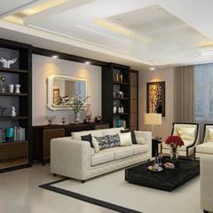 JC Residence: Ruang Keluarga oleh EquiL Interior,