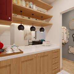 Apartamento MJ: Cozinhas  por Alessandro Ramos Arquitetura