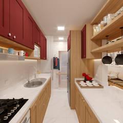 مطبخ تنفيذ Alessandro Ramos Arquitetura