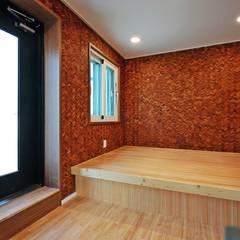 부산 강서구 명지동(명지지구 D3-2-12) 상가주택 신축공사: 피앤이(P&E)건축사사무소의  바닥