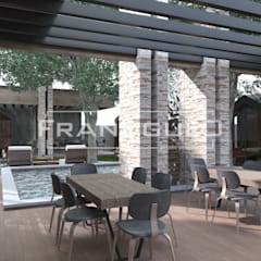 Терраса ресторана Княжа Втиха в деревенском стиле: Ресторации в . Автор – Frandgulo