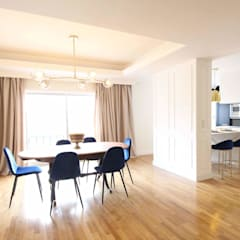 Remodelação de apartamento: Salas de jantar  por Stylish Mood Lda.