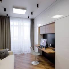 ห้องทำงาน/อ่านหนังสือ by nadine buslaeva interior design