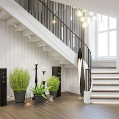 Escadas  por Студия авторского дизайна ASHE Home