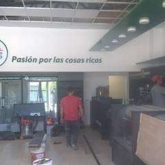 Panificadora San Alfonso : Oficinas y Tiendas de estilo  por CONSTRU/ARQ:  Construya Ud.una Arquitectura de manera PLANIFICADA, INTELIGENTE Y SEGURA