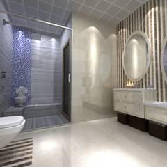 EN+SA MİMARİ TASARIM – örnek daire:  tarz Banyo