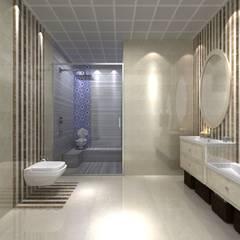EN+SA MİMARİ TASARIM – örnek daire: klasik tarz tarz Banyo