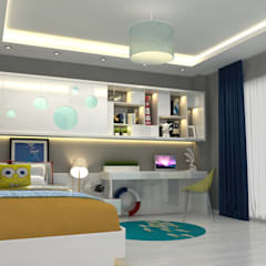 EN+SA MİMARİ TASARIM – örnek daire:  tarz Genç odası
