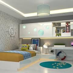 EN+SA MİMARİ TASARIM – örnek daire:  tarz Çocuk Odası