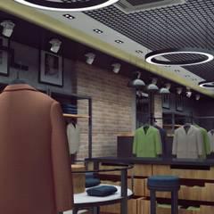 EN+SA MİMARİ TASARIM – erkek giyim mağazası:  tarz Ofisler ve Mağazalar