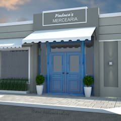 Fachada mercearia: Espaços comerciais  por Jéssica Caroline - Arquitetura & Interiores