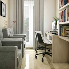 asian Study/office by Monnaie Interiors Pvt Ltd