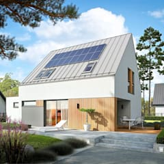 Mini 5 G1 PLUS - nowoczesny i oszczędny dom na duży PLUS od Pracownia Projektowa ARCHIPELAG Minimalistyczny