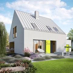 Mini 5 G1 PLUS - nowoczesny i oszczędny dom na duży PLUS: styl minimalistyczne, w kategorii Domy zaprojektowany przez Pracownia Projektowa ARCHIPELAG