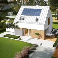 Mini 5 G1 PLUS - nowoczesny i oszczędny dom na duży PLUS: styl , w kategorii Dom jednorodzinny zaprojektowany przez Pracownia Projektowa ARCHIPELAG
