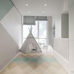 WHITE BREATH:  Kinderzimmer von Tobi Architects