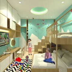 Mr. Adrian's Kids Bedroom: Kamar Tidur oleh SEKALA Studio,