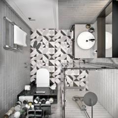 Квартира 74 кв.м. в современном стиле в ЖК Татьянин парк: Ванные комнаты в . Автор – Студия архитектуры и дизайна Дарьи Ельниковой