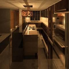 REMODELACION DE VIVIENDA.: Cocinas de estilo  por ESTUDIO KULUMAK