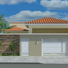 Projeto Residencial: Casas familiares  por Maria Clara Tavares - Arquitetura