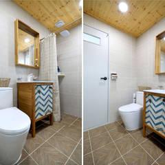클래식건축스타일 전원주택: 하우스톡의  욕실