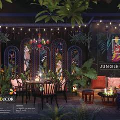 Jungle Bistro – Bộ Concept nhiệt đới mang hơi thở của thiên nhiên:  Nhà hàng by Công ty Thiết kế Nội Thất Tramdecor