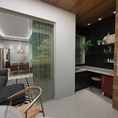 Casa S + V: Terraços  por SÓDESIGN