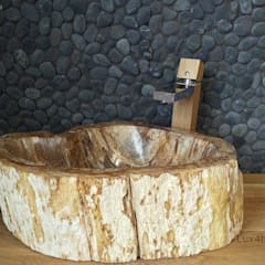 Petrified Wood Bathroom Sinks:  Bathroom by Lux4home™ Indonesia